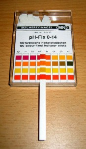 soil pH test strip