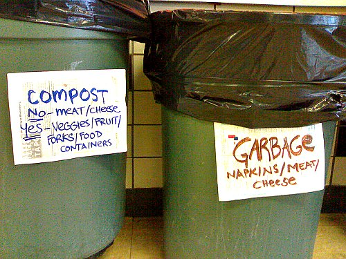 Composting meat and cheese